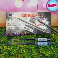 Pulpen Gel Kenko Easy Gell Hitam / Biru 0.5mm isi 12 buah