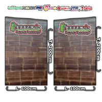 Tirai bambu kulit hitam size Lebar 1m x Tinggi 2m sudah di vernis