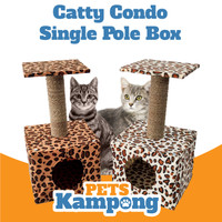 Mainan kucing Cat Condo tree Garukan scratcher tingkat single box