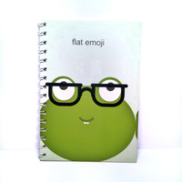 Buku spiral A5 flat emoji 6016 QB-T1438-2007// notebook lucu