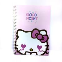 Buku spiral A5 Hello kitty 6016 QB-T1438-2007// notebook lucu