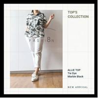 New Arrival : Kemeja Tie Dye Allie Top - Marble Black