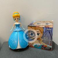 Mainan Anak Perempuan Ice Princess Rotating Dance Light Music