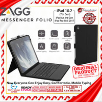 iPad 10.2 / iPad 10.5 Zagg Messenger Folio Tablet Keyboard and Case