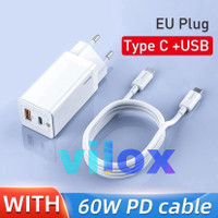 baseus tc fast charger gan mini 45w pd qc scp afc 3.0 c to c macbook