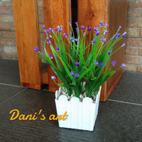 Rumput bunga set/ rumput palsu/ bunga meja / rumput plastik