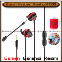 Headset Gaming Gamen GE100 Dual Microphone Mic For HP Smartphone PC
