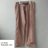 celana panjang pria out door / training pria / quick dry UNIQLO mocca