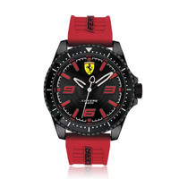 Ferrari Scuderia 0830498 Xx Kers Men Black Dial Red Rubber Strap