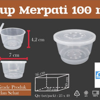 THINWALL CUP MERPATI 100ML - 100 ML - CUP SAMBEL - AGAR - ISI 25 SET