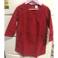 Baby Gap dress red sz 4