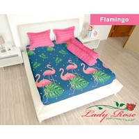 Bedcover Lady Rose Sprei Rumbai Size King 180x200 Flamingo