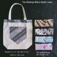 Tas belanja Blacu Batik lipat - Kecil