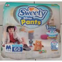 PAMPERS SWEETY SILVER PANTS M60 / SWEETY SILVER PANTS M MURAH GROSIR