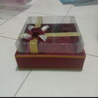 kotak hantaran seserahan mika tempat kue warna merah marun
