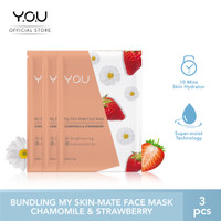 My Skin-Mate Face Mask 3 in 1 by You Makeups - Chamomile & Strawberry