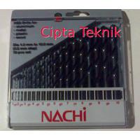Mata Bor Besi Nachi Set 1-10mm isi 19pcs