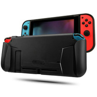 MEO CASING TPU GRIP HANDLE WITH GAME CARD SLOT STORAGE NINTENDO SWITCH