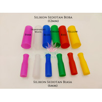 Silikon Sedotan BOBA (12MM) Stainless Steel Straw Silicone Tips Cover
