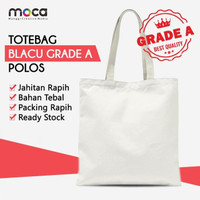 Totebag / Goodiebag Blacu Polos Ukuran 25x30 - Grade A
