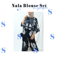 Shibori set biru tie dye