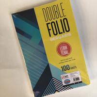kertas double folio garis isi 100 Sinar Dunia