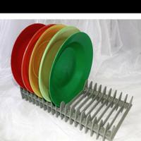 Rak CD/Rak Tatakan Piring Plastik isi 19 lubang/Rak Pengering Piring