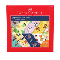 Faber Castell 50 Origami Washi Paper Animal Series 15x15cm