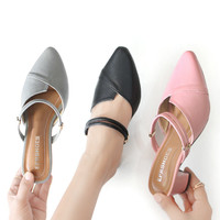 Sepatu Heels Hak Tahu 5Cm Wanita Kerja Pesta Kulit Bk01