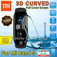 Antigores 3D CURVED Miband 5 Screenguard Xiaomi Mi Band 5 non tempered