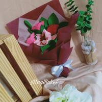 buket bunga flanel wisuda hadiah kado gift anniversary birthday