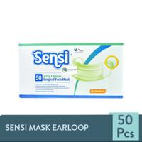 SENSI MASK EARLOOP / MASKER SENSI SURGICAL FACE MASK 3 PLY ISI 50PCS