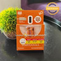 baterai AAA rechargeable batre cas micro usb isi 2 buah termasuk kabel