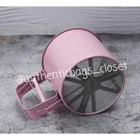Gelas ayakan / saringan tepung stainless - Pink