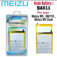 Baterai Battery Original Meizu M5 , M5 Dual , M611H , BA611 , BA-611