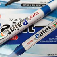 Spidol Ban Sepeda Motor Mobil Paint Marker TOYO Warna Biru Blue