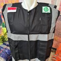 Rompi Safety Bahan Drill Plus Logo K3 & Logo Bendera / Rompi Proyek