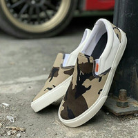 Sepatu warrior arthur slip on v2 white - 37, Army