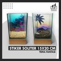 Stiker Soliter Cupang 15x20 / Sticker Aquarium Mini Cupang