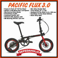 Harga Normal Sepeda Lipat 16 Inch Pacific Flux 3.0 Mirip Element Troy