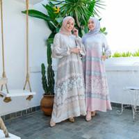 SHENA PASTEL DRESS Gamis Busui Murah Syari Panjang