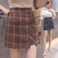 824 Cosmos Korean Mini Skirt/Rok Slim Model High Waist Motif Kotak