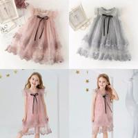 Dress princess Tulle casual Anak perempuan - 4-5 tahun, Pink