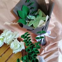 buket bunga flanel lily hadiah kado wisuda anniversary birthday