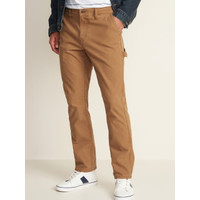 Celana Old Navy Straight Built in Flex Carpenter Pants Brown Original