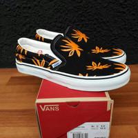 Sepatu Vans Slip On Rasta Falm Black Orange ORI Premium BNIB Quality