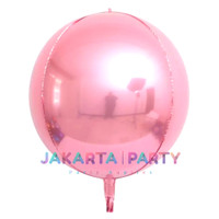 Balon Foil Bulat Orbz Pink / Balon Orbs 4D Helium Quality / Balon Orbz