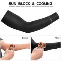 Rockbros XT9002 Arm Sleeve Outdoor Manset Tangan Sepeda Anti UV - Hitam