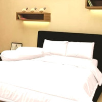bed cover set 160x200 t30 putih polos embos queen size