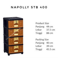 Lemari Plastik Napolly 4 susun STB 400